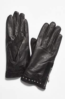 Scotch & Soda Ace Studded Leather Gloves