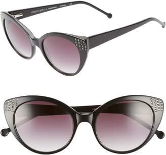 Colors In Optics Seema 52mm Gradient Lens Cat Eye Sunglasses