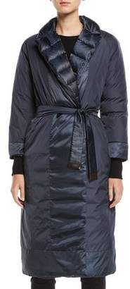 Max Mara Here is the Cube Collection Noveco Reversible Long Taffeta Jacket w/ Travel Case
