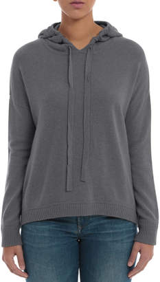 Minnie Rose Cashmere High-Low Hoodie