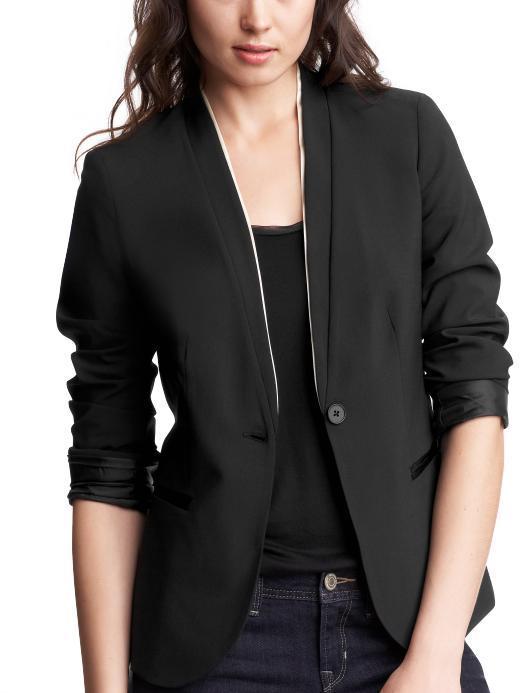 Double-layer tuxedo blazer