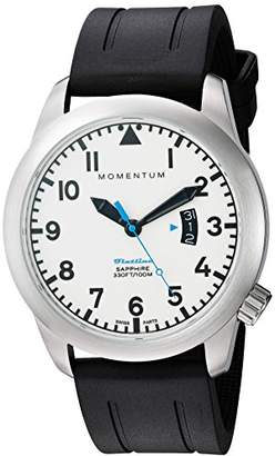 Momentum Men's Swiss Quartz Stainless Steel and Rubber Watch