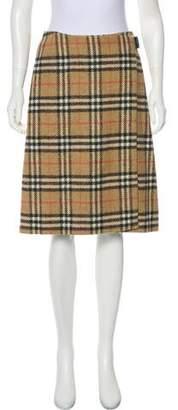 Burberry Wool Nova Check Skirt