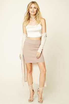 Forever 21 Ribbed Knit Bodycon Mini Skirt