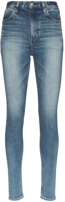 Hyke faded slim-fit jeans