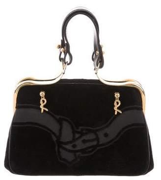 Roberta Di Camerino Velvet Frame Bag