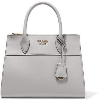 Prada Paradigme Medium Leather Tote - Gray