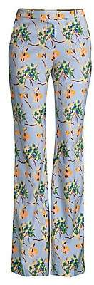 Etro Women's Painted Floral Periwinkle Pants