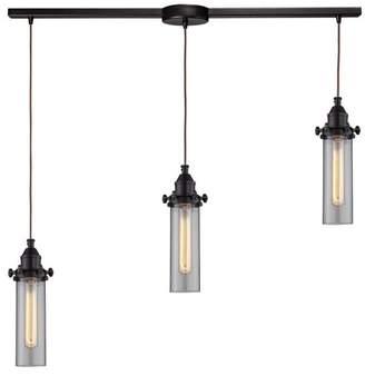 Fulton Elk Lighting 3-Light Pendant
