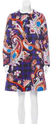 Mary Katrantzou Printed Knee-Length Coat w/ Tags