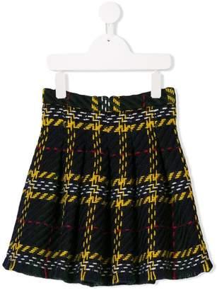 Oscar de la Renta Kids plaid pleated skirt