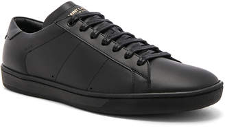 Saint Laurent Leather Low-Top Sneakers