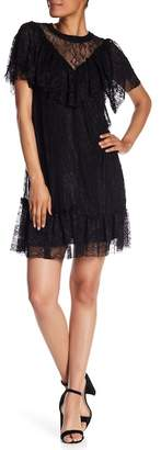 Kensie Lace Ruffle Dress