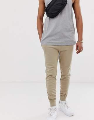 BEIGE Asos Design ASOS DESIGN skinny sweatpants in