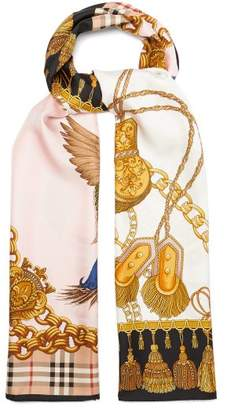 Burberry - Archive Scarf Print Silk Scarf - Mens - Gold
