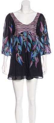 Temperley London Printed Mini Dress