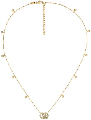 Gucci GG Running necklace with diamonds
