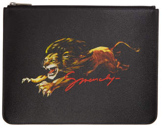 Givenchy Black Large Canvas Leo Pouch