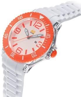 40Nine Men's 40NINE01/ORANGE3 Extra Large 50mm Analog Display Japanese Quartz White Watch