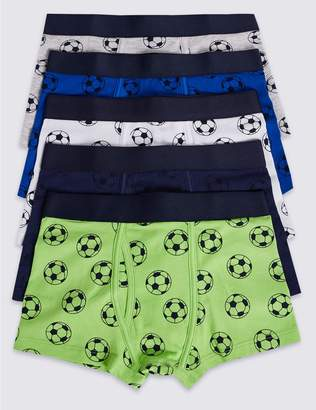 Marks and Spencer 5 Pack Trunks with Stretch (18 Months - 16 Years)