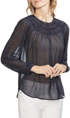 Vince Camuto Long Sleeve Tiered Ruch Top