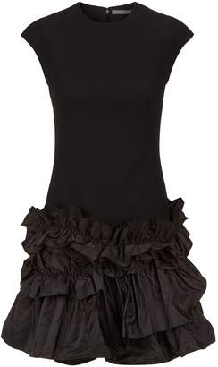 Alexander McQueen Ruffled Hem Mini Dress