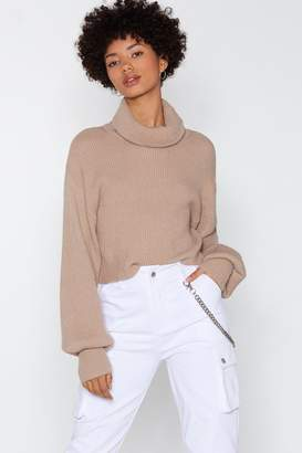Nasty Gal Give Knit a Moment Turtleneck Sweater