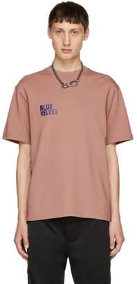 Christian Dada Pink Blue Velvet T-Shirt