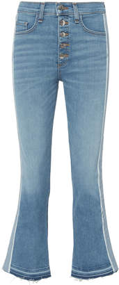 Veronica Beard Carolyn Baby Blue Tuxedo Stripe Jeans