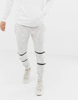 Brave Soul Skinny Fit Fleck Sweatpants