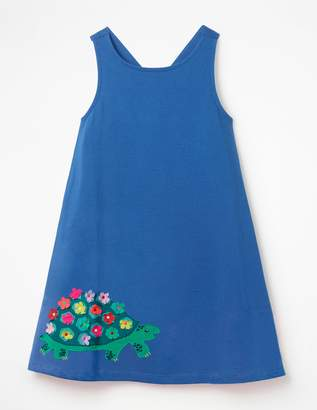 Cross-Back Applique Dress