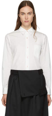Comme des Garcons White Pointed Collar Shirt