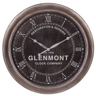 "Patton Wall Decor 24"" Glenmont Black Restoration and Repairs Antique Wall Clock"