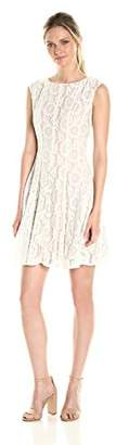 Julian Taylor Women's Lace Fit and Flare Dress