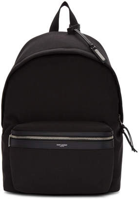 Saint Laurent Black Canvas City Backpack
