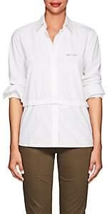 """Current/Elliott Women's """"Plus D'Amour"""" Cotton Poplin Shirt - White"""