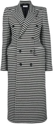 Balenciaga hourglass double-breasted check coat