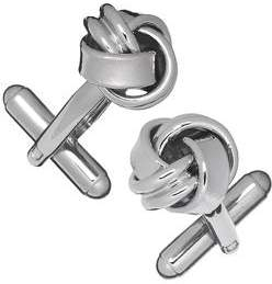 Jan Leslie Classic Metal Knot Cufflinks