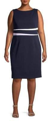 Eliza J Plus Colorblock Sheath Dress