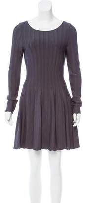 Elizabeth and James Long Sleeve Pleated Dress