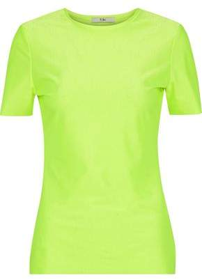 Tibi Neon Stretch-Jersey T-Shirt