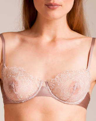 Carine Gilson Roses Lace and Silk Bra
