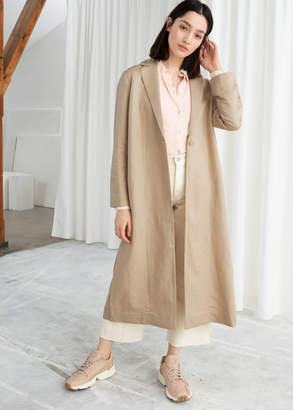 And other stories Linen Blend Duster Coat