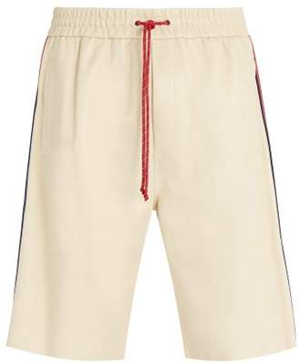 Gucci Drawstring Leather Shorts - Mens - White