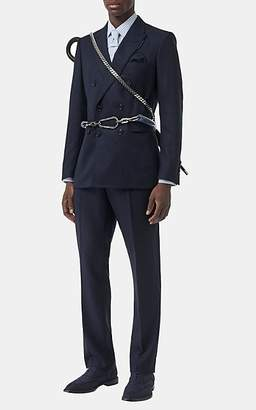 Burberry Men's Hopsack Double-Breasted Suit - Navy