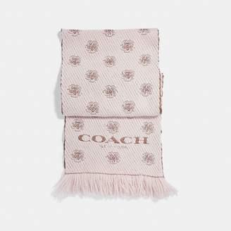 Coach Tea Rose Twill Muffler