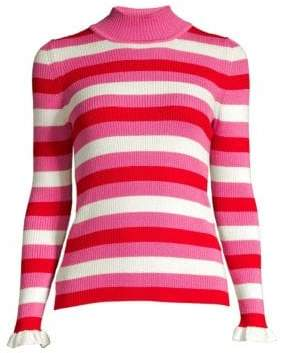 Maggie Marilyn You Make Me Happy Tonal Stripe Merino Wool Sweater