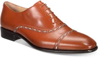 Roberto Cavalli Men's Cap-Toe Leather Oxfords