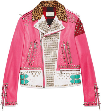 Hand-painted leather biker jacket $12,500 thestylecure.com