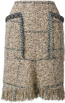 Sonia Rykiel short tweed skirt